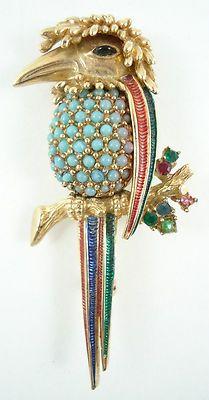 Boucher Signed Kingfisher Brooch 648   eBay