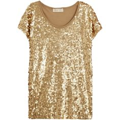MICHAEL Michael Kors Sequined jersey top ($240) ❤ liked on Polyvore