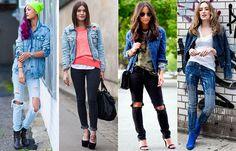 Jaqueta jeans + Calça jeans
