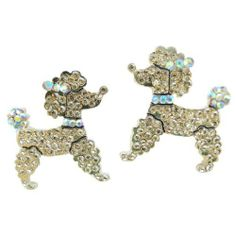 "Ever Faith 18K GP Lovely Little Dog Doggie Stud Earring Light Topaz Austrian Crystal Ever Faith. $15.95. You deserve the unique design ring to show off and it will make you an instant center of attraction. 1.18"" by 1"". Austrian Crystal (one of the best quality crystals in the world ). The toy poodle measures approx. 3cm(1.18"") long and 2.5cm(1"") wide."