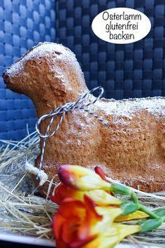 Backen zu Ostern? Geht auch glutenfrei! Ein Osterlamm glutenfrei backen - schaffst Du easy. Hier ist mein Rezept für Deinen Osterbrunch. (Anzeige / Blogartikel ist eine Kooperation) #Ostern #glutenfrei #backen #Osterlamm #Osterbrunch Gluten Free, Easter, Meat, Food, Vegan Cake, Lactose Free Recipes, Happy Easter, Glutenfree, Easter Activities