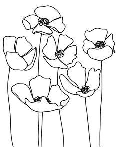 Easy Flower Drawings, Simple Line Drawings, Butterfly Drawing, Flower Sketches, Easy Drawings, Line Drawings Of Flowers, Line Drawing Art, Butterfly Line Art, Flower Outline