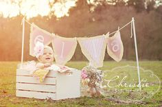 shabby chic photo shoot first birthday