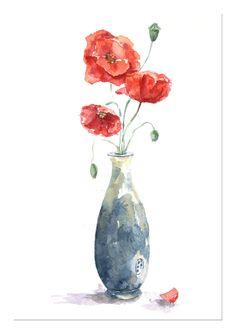 Watercolor paintings por ArtAquarelle en Etsy