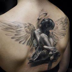 Image result for fallen angel tattoos for women