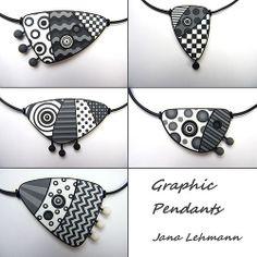 Graphic Pendants by Jana Lehmann