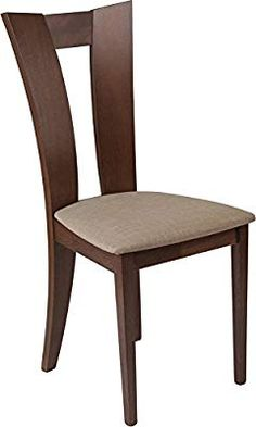 Wood chair design - Talbot Walnut Finish Wood Dining Chair with Slotted Back and Magnolia Brown Fabric Seat Wooden Dining Table Designs, Dinning Table Design, Wooden Dining Chairs, Outdoor Dining Furniture, Dining Chair Set, Pallet Furniture, Furniture Makeover, Furniture Ideas, Furniture Design