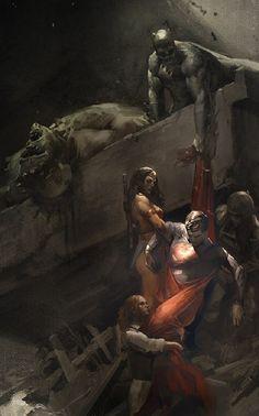 Descending a hero. Art of Batman v Superman Dawn of Justice