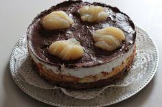 Papilles on/off: Entremet mousse de poire, mousse au chocolat et mi...