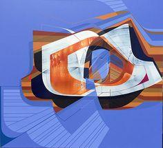 "Alex Couwenberg ""Felix"" 2016, Acrylic on Canvas, 66 x 72 in / 168 x 183 cm. Courtesy of Lyons Wier Gallery"