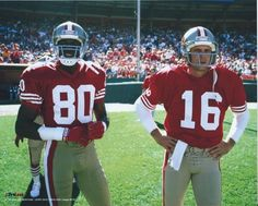 81e16941d Joe Montana And Jerry Rice San Francisco 49ers Unsigned 8 X 10 Prolook  Photo from  3.99