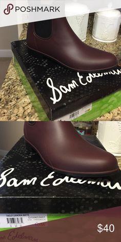 NWT Sam Edelman rain boots NWT Sam Edelman burgundy rain boots. Never worn. Sam Edelman Shoes Winter & Rain Boots