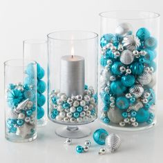 we want our hurricanes to come out like these christmas decorations holiday decor - Blue And Silver Christmas Decorations