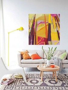 interior design abstract painting