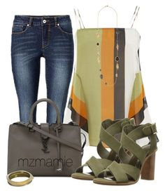 """Untitled #2788"" by mzmamie on Polyvore featuring Finery London, Yves Saint Laurent, Joie and Alexis Bittar"