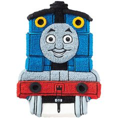 Look who just arrived in time for birthday fun! This awesome Thomas the Tank Engine cartoon cake looks just like the real deal and is sure to be a great birthday surprise for little conductors. Use the Thomas and Friends Cake Pan to create a cute train character cake that looks like it's right off the rails! You could also use the same pan to create and customize your own train design.