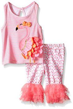 99114feaff04 Mud Pie Girls  Two Piece Sleeveless Playwear Set Toddler Pants