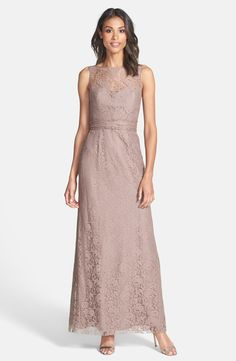 c1219d92fc5 Amsale Illusion Yoke Lace Gown available at  Nordstrom Lace Bridesmaids  Gowns