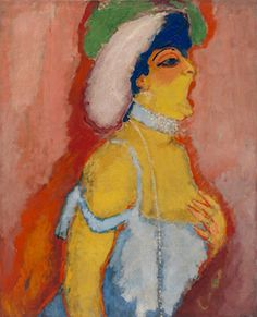 Kees van Dongen (Dutch, 1877-1968), Modjesko, Soprano Singer, 1908. Oil on canvas, 100 x 81.3 cm.