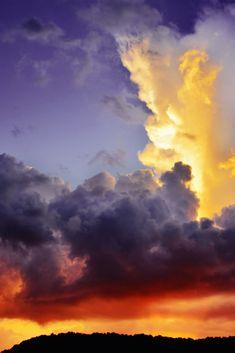 Purple and Golden Sunset