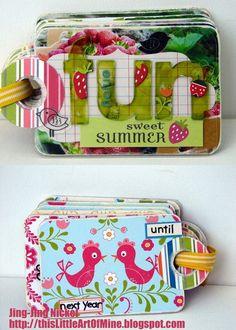 pocket size summer mini-album