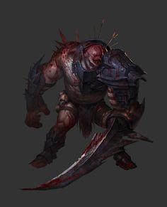 monster concept, kim sehoon on ArtStation at https://www.artstation.com/artwork/zBBAw