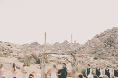 It's Impossible NOT To Love This Incredible Desert Wedding #refinery29  http://www.refinery29.com/100-layer-cake/77#slide14  Related: A Stunning Joshua Tree Wedding