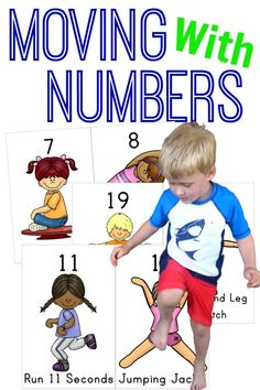 Kinesthetic Learning for numbers!   Perfect for calendar time or a brain break!  So much fun!