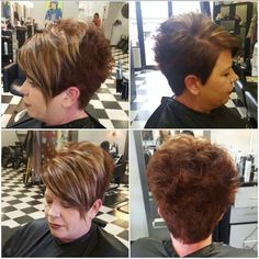 blonde and red short pixie cut Short Pixie, Pixie Cut, Hairstyle Ideas, Hairstyles, Vacation Food, Red Shorts, Dark Hair, Hair And Nails, Short Hair Styles