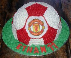Manchester United soccer ball cake
