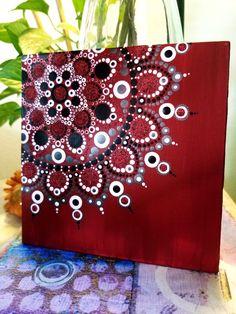 Bolso con mandala Mandala Art, Mandala Canvas, Mandala Stencils, Mandala Drawing, Mandala Painting, Mandala Pattern, Mandala Design, Dot Art Painting, Pebble Painting