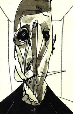 Antonio Saura. Spanish painter and writer. Huesca 1930 - Cuenca 1998. Illustration for Don Quixote.