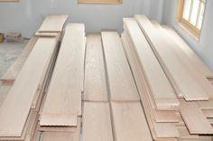 Wide Plank Red Oak ready for installation
