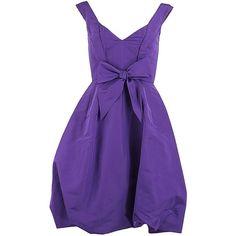 Oscar de la Renta V-Neck Off the Shoulder Dress ($2,590) found on Polyvore