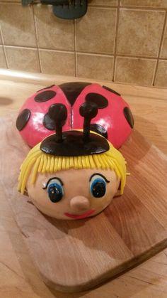 Ladybug cake for one year old sweet princess