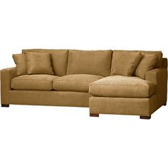 Axis 2-Piece Right Arm Chaise Sectional in Sectional Sofas | Crate and Barrel--Living Room