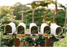 wedding mailbox for escort cards ~ more mailbox inspiration & DIYs here: http://su.pr/1yoFnD