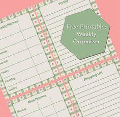 Printable Weekly Organizer