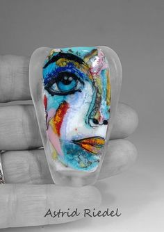 The Face it series Glass lampwork focal bead By by AstridRiedel