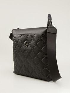 Versace Embossed Messenger Bag - Zoo Fashions - Farfetch.com