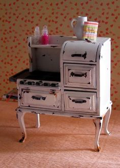 How to: Miniature aged vintage stove.