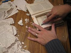 Book Craft - Tip: drill holes at the 4 corners of the compartment first to make cutting the corners easy.