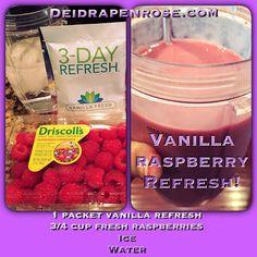 Yummy #raspberries #vanilla #refresh