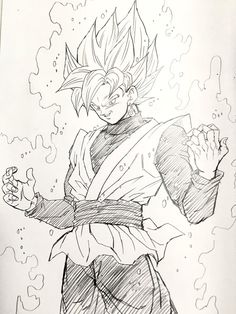Super Saiyan Rose Black Goku. Image drawn by: Young Yijii. Found by: #SonGokuKakarot