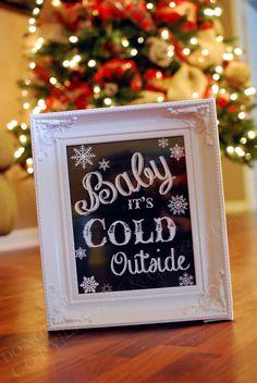 B1G1Free Baby It's Cold Outside Christmas by LadybugsandGrasshopp, $8.00