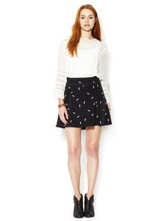 Skater Skirt with Contrast Band by Marabelle at Gilt