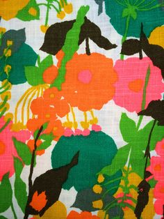 LINEN Nelly de Grabb Groovy Mod Sheath Dress Shift by elliemayhems Textiles, Textile Patterns, Textile Prints, Cool Patterns, Vintage Patterns, Textile Design, Print Patterns, Floral Prints, Swatch