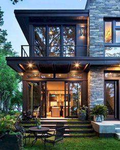Escada home exterior design, modern home design, home architecture design, dream house exterior Future House, My House, House With Garden, Rest House, Full House, Style At Home, Design Exterior, Stone Exterior, Exterior Tiles