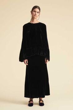 Maryanne Japanese Velvet Skirt - Black