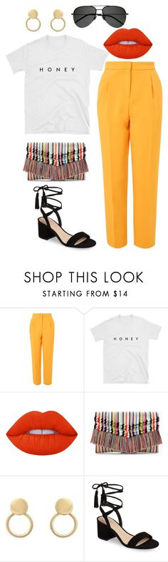 """#252"" by lapetitenene ❤ liked on Polyvore featuring Topshop, Lime Crime, Stella & Dot, BP., Yves Saint Laurent, travel, holiday, getaway and marrakech"